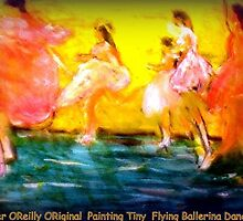 AnOther OReilly ORiginal Painting  Half Pint and Flying Ballerina Dancers — with Half-Pint' at San Francisco Ballet. by Timothy C O'Reilly
