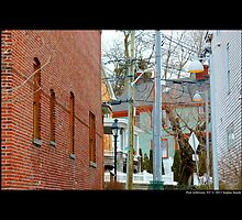 East Broadway Alley View - Port Jefferson, New York by © Sophie W. Smith