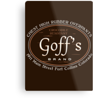 Goff's Brand Chest High Rubber Overpants Metal Print