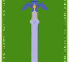Zelda Master Sword Poster by Ayax Alarcon