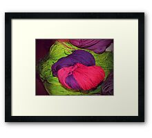 Bright Ball of Wool Knot Framed Print