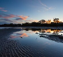 Deception Bay Sunset reflections by Martin Canning