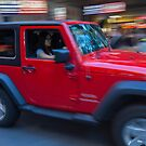 Red Jeep by Vince Russell