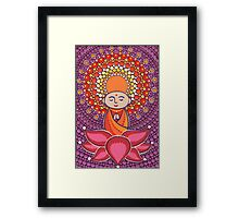 Jizo Meditating upon a Ruby Lotus Framed Print
