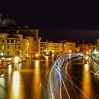 River Light Trails - Venice Italy by Graeme Buckland