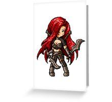 Katarina, The Pixel Blade Greeting Card