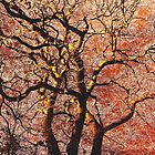 Abstract Autumn Fire Tree by himmstudios