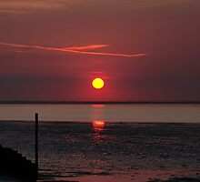 Sunset Over The Hampshire Coast by Rod Johnson