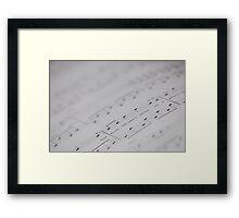 Written music Framed Print