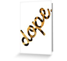 DOPE Leopard Type Greeting Card