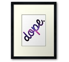 DOPE Space Type Framed Print