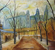 Wawel in the Morning by Halina Plewak