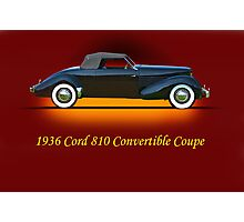 1936 Cord 810 Convertible w/ID Photographic Print