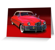 1948 Packard Super 8 Victoria Convertible Greeting Card