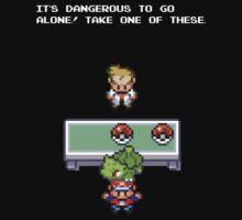 It's Dangerous to go Alone (Bulbasaur) by MoleFole