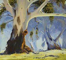 My Mum's resting spot - oil painting by Chris Brunton