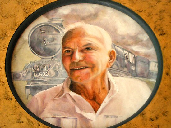 My Dad - oil painting by Chris Brunton
