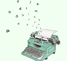 Little Green Typewriter by Anna Dimmock
