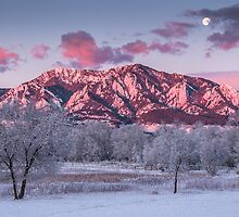 The Foothills At Moonset by Greg Summers