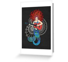Musical Mermaid Greeting Card
