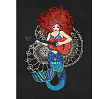 Musical Mermaid Photographic Print