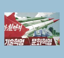 North Korean Propaganda - Missiles  by Tim Topping