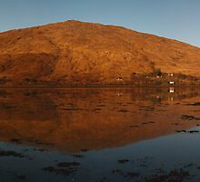 Evening reflections, Loch Eil. by John Cameron
