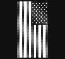US Flag Digital Line Art by midniteoil
