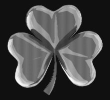 Irish Shamrock Digital Line Art  by midniteoil