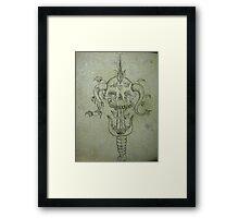 Sverd og Skull Framed Print