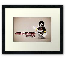 Death Metal Die-Hard Framed Print