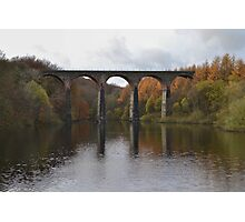 Armsgrove Viaduct On Wayoh Reservoir. Photographic Print
