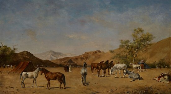 An Arabian Camp, 1873 by Bridgeman Art Library