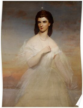 Portrait of Queen Maria Sophia of Naples, c.1860 by Bridgeman Art Library