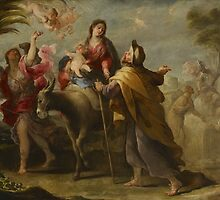 The Flight into Egypt, 1669 by Bridgeman Art Library