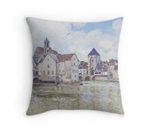 Le Pont de Moret, 1888 Throw Pillow