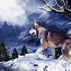 Husky - Mountain Spirit by Carol  Cavalaris