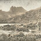 Cradle Mountain (3) The Old Boathouse. by Larry Davis