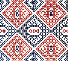 Scandinavian / Nordic Embroidery Pattern 2 by RedPine