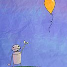 Sad Robot - The Balloon by Absurd Digital Imagery