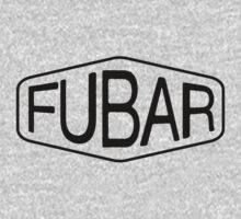 FUBAR logo - black contrast version by dennis william gaylor