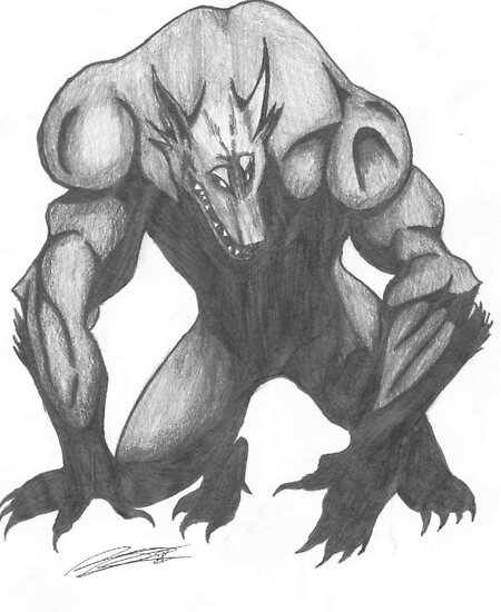 Werewolf Drawing by CaptainJeff