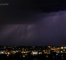Lightning over Bendigo by Simon Penrose