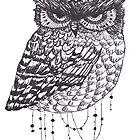 Vintage Hipster Owl by superwholock97