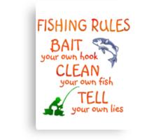 FISHING - RULES Canvas Print