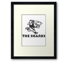 NATAL SHARKS FOR LIGHT SHIRTS SOUTH AFRICA RUGBY SUPER RUGBY Framed Print