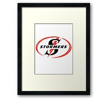 STORMERS SOUTH AFRICA RUGBY WP PROVINCE SUPER 15 RUGBY Framed Print
