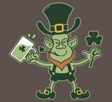 Green Leprechaun Drinking a Toast Kids Clothes