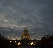 Night, Washington DC, US Capital by Kirk D. Belmont Photography