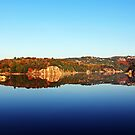 Fall Reflections On George Lake by Debbie Oppermann